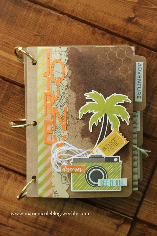 Mini File Folder Album Featuring Papers By Simple Stories Marie