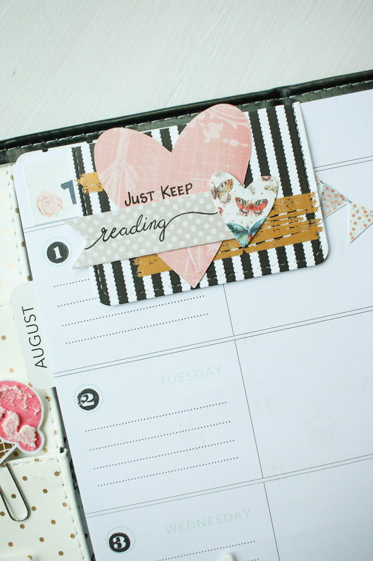 Creating a magnet bookmark for your planner.